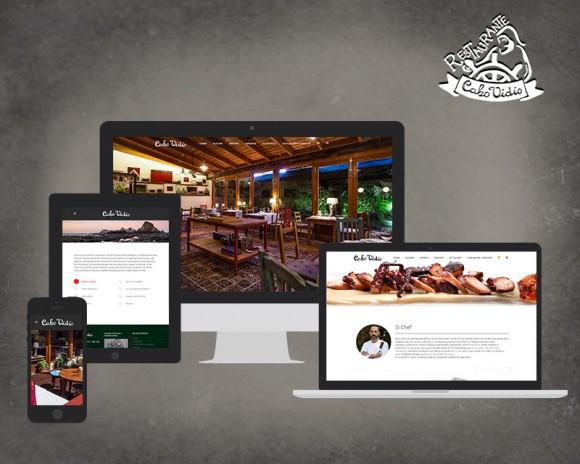 Diseño web Restaurante Cabo Vidío