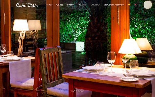 inicio web restaurante cabo vidio
