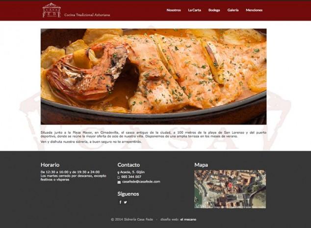 pagina inicio web casa fede