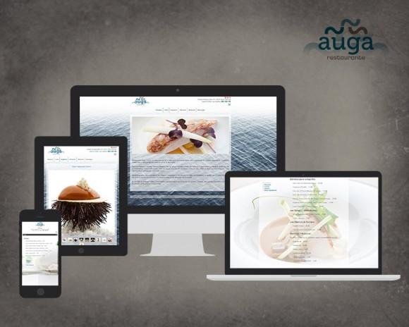 diseño web restaurante auga