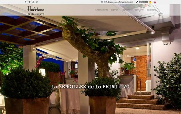 inicio web restaurante la huertona
