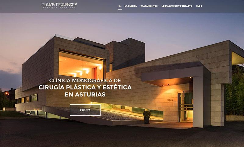 Portada diseño web Clínica estética Fernández de Oviedo