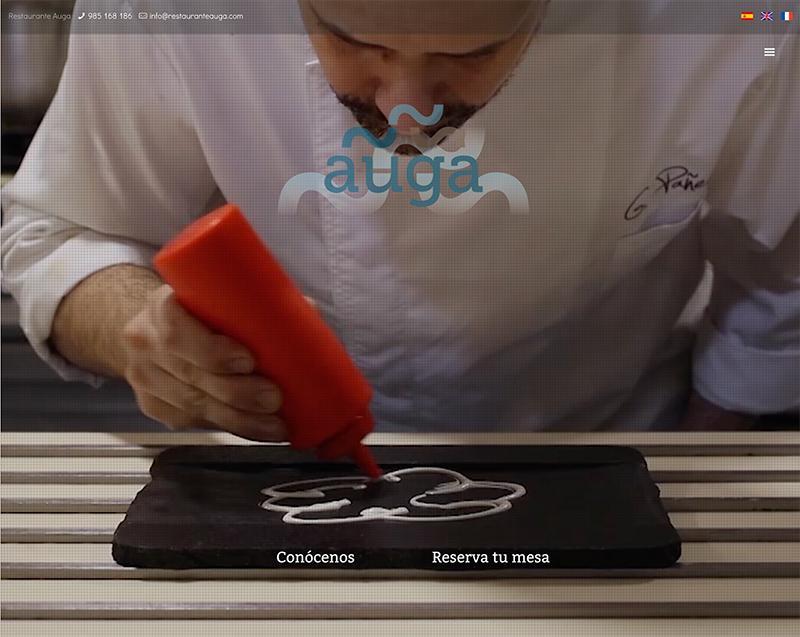 portada web restaurante Agua Gijón