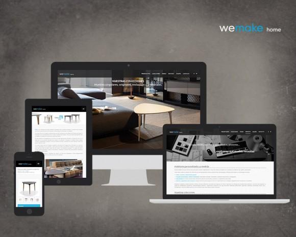 desarrollo web muebles we make home