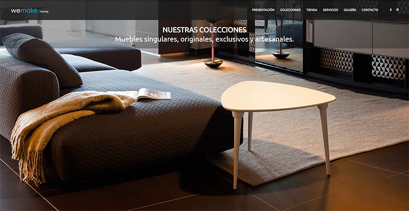 diseño web muebles we make home portada