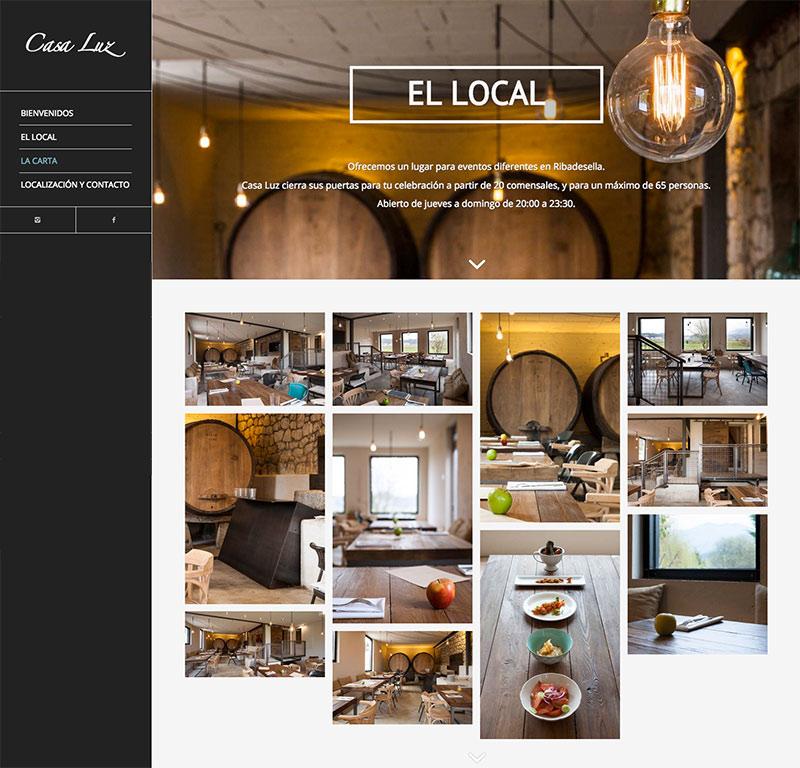 pagina web casa luz ribadesella, el local